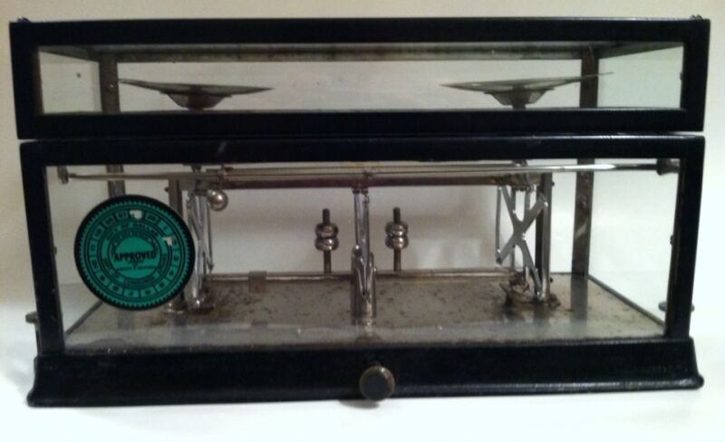 Antique Apothecary Drug Store Pharmacy Scale Torsion Balance 1890