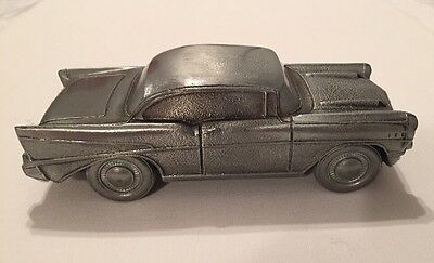 VINTAGE 1974 BANTHRICO 1957 CHEVY/CHEVROLET BANK (PEWTER?) CAR