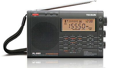 TECSUN PL660 PLL WORLD BAND RECEIVER FM / MW / LW / SW / AIR <<BLACK>>