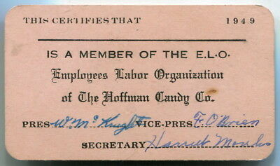 1949 Employee Union Card: