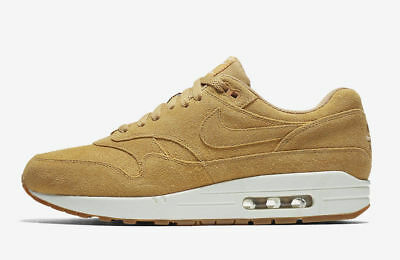 Nike Air Max 1 Premium Shoe WHEAT Sail Flax Gum 875844-203 Men 7 Women 8.5
