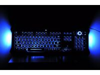 Gamers Saitek Eclipse PC keyboard features blue illumination