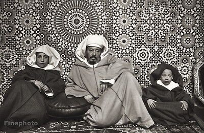 1934 Vintage Print 11x14 AFRICA ~ Arab Man Children Folk Sheik Dress Photo Art
