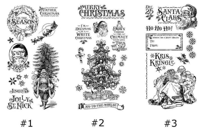 Graphic 45 * ST. NICHOLAS * CLING STAMPS #1, #2 OR #3 * Christmas * You Pick