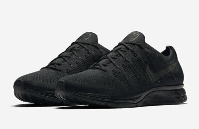 on sale fe2b0 1b4cb Mens Nike Flyknit Trainer AH8396-004 Black Anthracite NEW Size 11