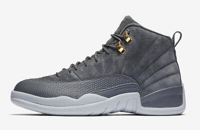 2017 Nike Air Jordan Retro 12 XII size 13. Dark Grey Wolf 130690-005. suede