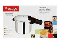 Brand New in Box Prestige Quick and Easy Aluminium 6 Litre Pressure Cooker - Silver