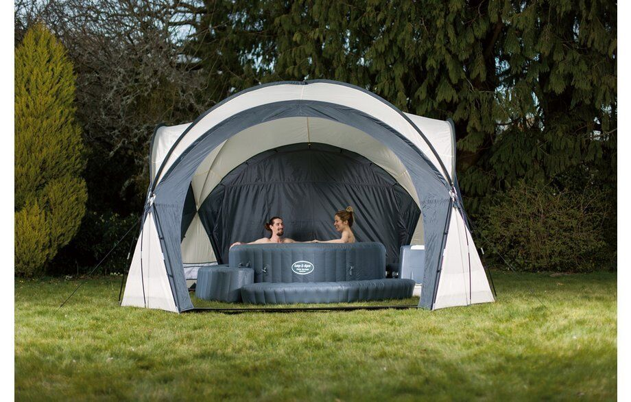 lazy spa dome tent for lazy spa hot tubs used once as. Black Bedroom Furniture Sets. Home Design Ideas