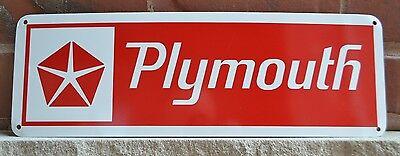 Plymouth Daimler Chrysler RED SIGN Mopar Hemi Dodge Mechanic Shop Garage 7day