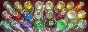 Rayon-Marathon-Embroidery-Machine-Thread-Metallic-1000m-Choice-of-Colours