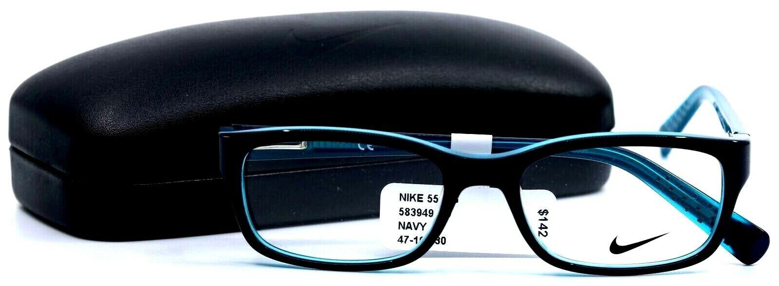 Nike 5513G 485 Navy/Hyper Jade Rectangular Full Rim Kids ...