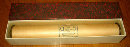 Q.R.S. Player Piano Roll Snowflakes 938 Christmas Chimes Ballad