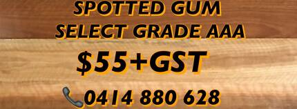 MEGA DEALSSPOTTED GUM TOPGRADEAAA 55 GST FREEQUOTE SALE