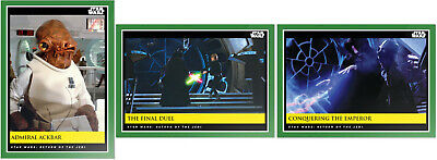2019 Topps Star Wars Galactic Moments Countdown to Episode 9 - Week 17 (3-Cards)