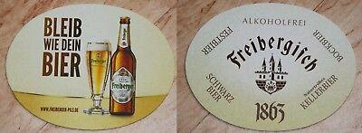 Bierfilz / Deckel / Bierdeckel Freiberger Brauerei Alkoholfrei