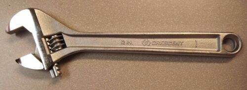"""Crescent Wrench 12"""" Alloy Crestology Steel"""
