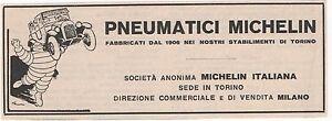 Pubblicita-anno-1929-MICHELIN-PNEUMATICI-TORINO-advert-werbung-publicite-reklame