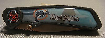 MIAMI DOLPHINS ABSTRACT LOGO TEAL FOLDING POCKET KNIFE