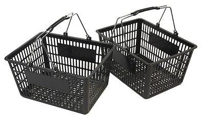 New Shopping Basket Set Set Of 2 Black