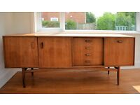 Gplan sideboard and table + 6 chairs