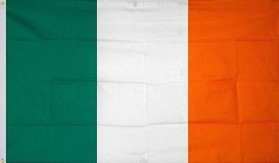 3X5 Ireland Flag Premium Irish Banner Brass Grommets 4 Rows Stitching ROCKET SHP - Ireland Flags