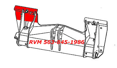 Rvm Repair Panel Kit For Mount Plate 6709215-lh 3 Pieces Bobcat W Bobtach
