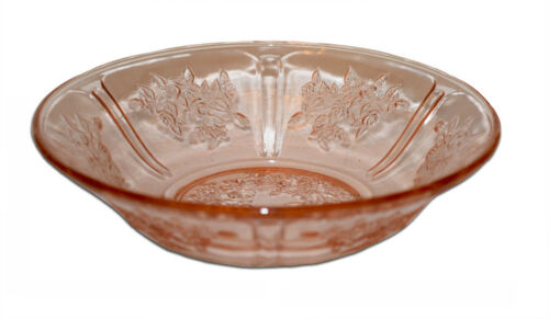 Federal Glass Company Sharon / Cabbage Rose Pink Cereal Bowl