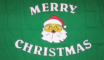 MERRY CHRISTMAS GREEN 3X5 FLAG FL113 banner XMAS w grommets SANTA CLAUS