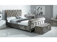 The Crushed Velvet Sleigh Bed From £280