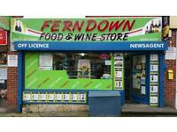 Off licence, Newsagent