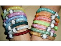 Swarovski Stardust Style Crystal Bracelets with Magnetic Clasp and Gift Bag. Brand New.