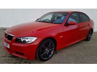 "2007 BMW 318D M SPORT ""LOOKS STUNNING IN RED"" PRIVACY GLASS- GREY M SPORT ALLOYS (PART EX WELCOME)"