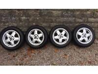 GENUINE BMW MINI ALLOYS AND TYRES 15in