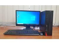 Fujitsu PC Computer Windows 10, Intel i5-4440 8GB RAM & 500GB HDD