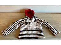 JoJo Maman Bebe reversible hooded jumper 12-18m