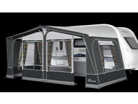 DOREMA Luxury Caravan Awning with Annexs. Size of Awning is 556 - 1000cm - 31.9 foot with pegs