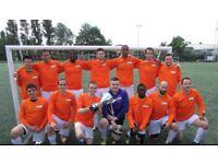 FOOTBALL TEAMS LOOKING FOR PLAYERS, 1 STRIKER, 1 MIDFIELDER NEEDED FOR LONDON SOCCER TEAM: