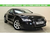 AUDI A7 3.0 TDI QUATTRO SE 5d AUTO 204 BHP TOP SPEC + LEATHERS + ALLOYS (black) 2013