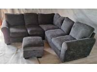 Tammy corner sofa and footstool