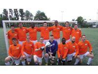 FOOTBALL TEAMS LOOKING FOR PLAYERS, 1 STRIKER, 1 MIDFIELDER NEEDED FOR LONDON FOOTBALL TEAM: jk22