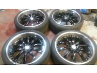 22 RANGEROVER RS ALLOY WHEELS DEEP DISH BMW X5 X6 X3 VW T5 T6 AMAROK 5 X 120