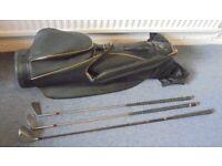 Golf Bag, Driver, Two Irons, £5 per item