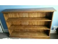 Solid reclaimed wood bookcase