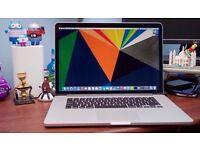 APPLE MACBOOK PRO RETINA 15 INTEL CORE i7 2.3GHZ 8GB RAM 256GB FLASH WIFI WEBCAM OS X