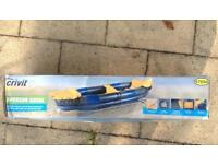 Crivit Inflatable two person Kayak ( brand new in box)