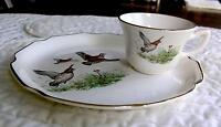 Vintage Georgian-Quail 2pc Luncheon Plate Set