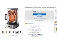 Rotisserie Vertical Grill Roaster Skewers Meat Doner Kebab Vegetables 5 in 1