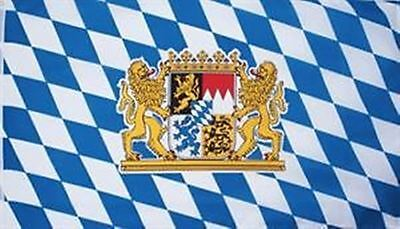Bayern mit Löwenwappen Flagge Fahne 1,50x2,50 XXL GROSS Oktoberfest Rauten NEU