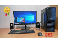 GAMING PC Overclocked Dual Core 3.6GHz CPU Nvidia Graphics 3GB Ram
