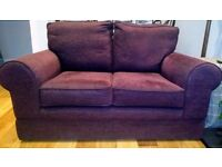 Marks and Spencer Purple 2 Seater Sofa and Love Seat